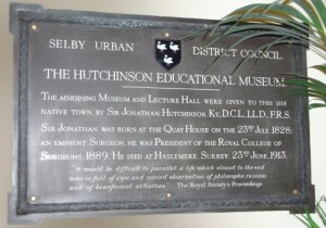 Hutchinson Educational Museum plaque