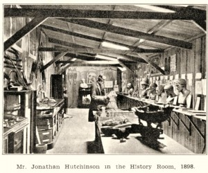 Hutchinson in the history room
