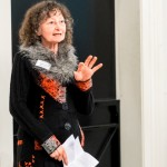 Janette speaking  at the Yorkshire Museum  (Jim Poyner Photography)