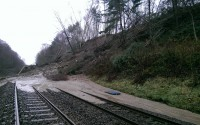 Farnley Haugh landslip track view 8 Jan 2016